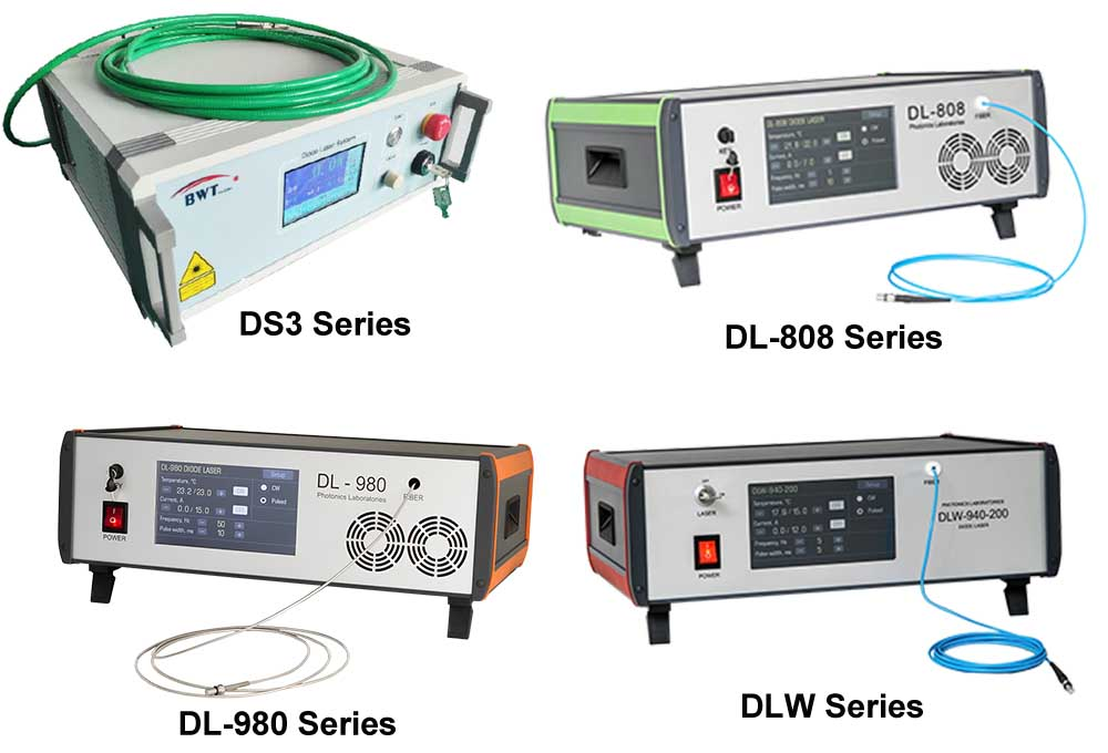 Fiber Coupled Direct Diode Laser Systems - 635~980nm